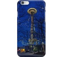 Space Needle Winter Nights iPhone Case/Skin