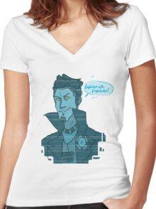 Cupcake- Handsome Jack Women's Fitted V-Neck T-Shirt