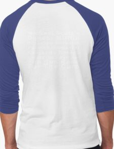 Michael Scott's Dunder Mifflin Scranton Meredith Palmer Memorial Celebrity Rabies Awareness Pro-Am Fun Run Race For The Cure Men's Baseball ¾ T-Shirt