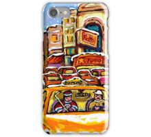 RIALTO THEATRE MONTREAL HOCKEY ART WINTER CITY SCENE PAINTING iPhone Case/Skin