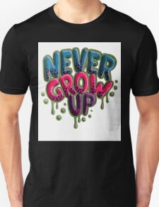 Never Grow Up [White] Unisex T-Shirt