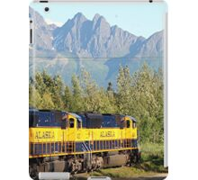 Alaska Railroad train and mountains iPad Case/Skin