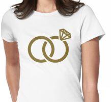 Wedding rings diamond Womens Fitted T-Shirt