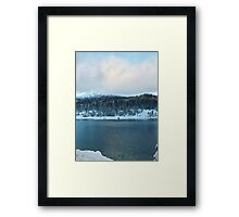 Winter Mountain Framed Print