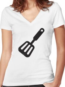 Spatula Women's Fitted V-Neck T-Shirt
