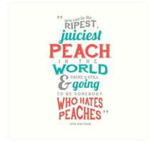 Peach Typography Quote Art Print