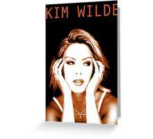 Kim Wilde Greeting Card