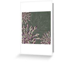 Flower Power Rose/Green Greeting Card