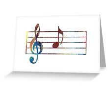 'A' musical note Greeting Card