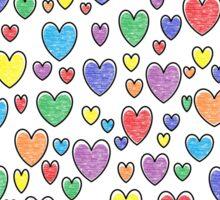 Colored Hearts  Sticker