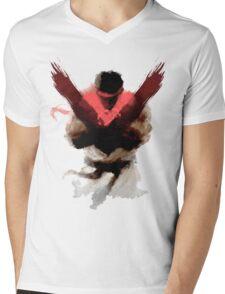 The Street Fighter Mens V-Neck T-Shirt