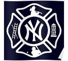 FDNY - Yankees style Poster