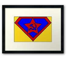 Hero, Heroine, Superhero, Super Communist Framed Print