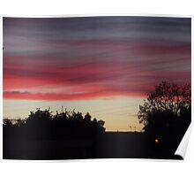 An Urban Sunset Poster