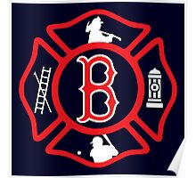 Boston Fire - Red Sox style Poster