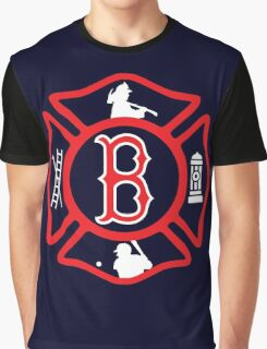 Boston Fire - Red Sox style Graphic T-Shirt