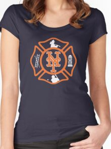 FDNY - Mets style Women's Fitted Scoop T-Shirt