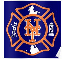 FDNY - Mets style Poster