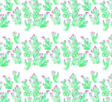 Prickly Pear Spring - White by Lisa Argyropoulos