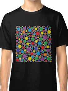 Colored Bubbles Black    Classic T-Shirt