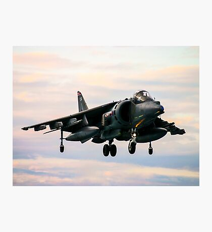 RAF Harrier landing Photographic Print