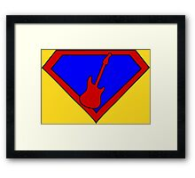 Hero, Heroine, Superhero, Super Guitarist Framed Print