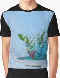 Lily Valley Tea Cup Graphic T-Shirt