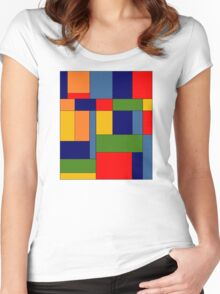 Abstract #348 Women's Fitted Scoop T-Shirt