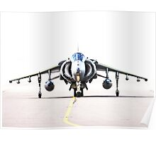 RAF Harrier head-on Poster