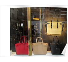 Designer Handbags on Kensington High street. Poster