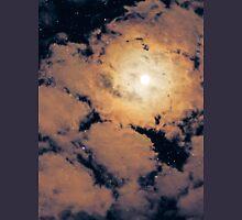 Full moon through purple clouds Unisex T-Shirt