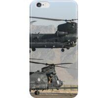 US Army Chinook MH-47D pair iPhone Case/Skin