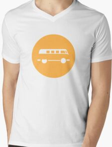 Minimal VW Van Mens V-Neck T-Shirt