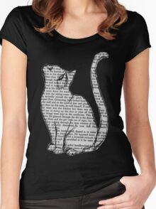 Book Cat Women's Fitted Scoop T-Shirt