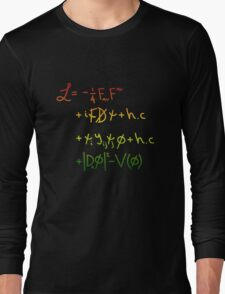 "Universe Lagragian. ""j"" Long Sleeve T-Shirt"