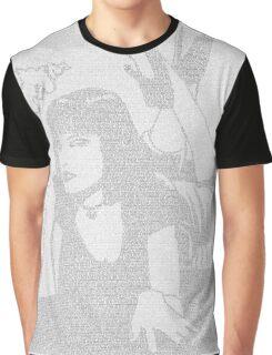 Pulp Fiction Mia Script Graphic T-Shirt