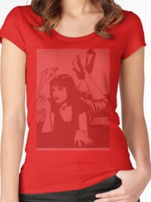 Pulp Fiction Mia Script Women's Fitted Scoop T-Shirt