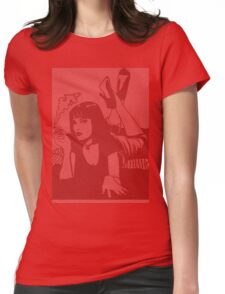Pulp Fiction Mia Script Womens Fitted T-Shirt