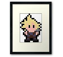 Pixel Cloud Strife Framed Print