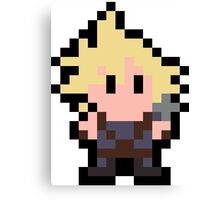 Pixel Cloud Strife Canvas Print