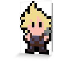 Pixel Cloud Strife Greeting Card