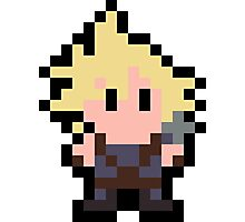 Pixel Cloud Strife Photographic Print