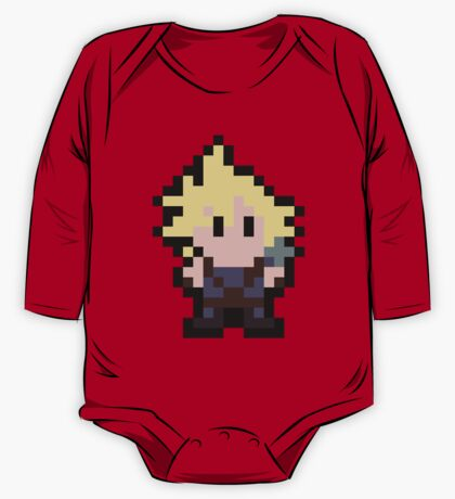 Pixel Cloud Strife One Piece - Long Sleeve