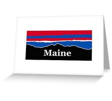 Maine Red White and Blue Greeting Card