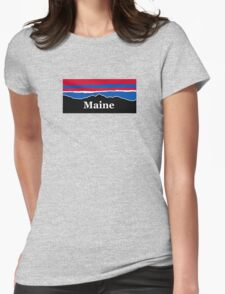Maine Red White and Blue Womens Fitted T-Shirt
