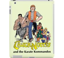 Chuck Norris and the Karate Kommandos - FullTeam - Black Font iPad Case/Skin