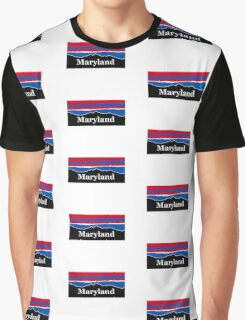 Maryland Red White and Blue  Graphic T-Shirt