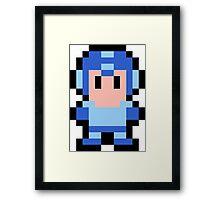 Pixel Mega Man Framed Print