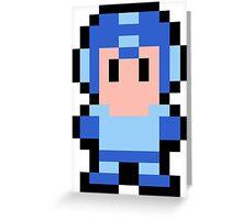Pixel Mega Man Greeting Card