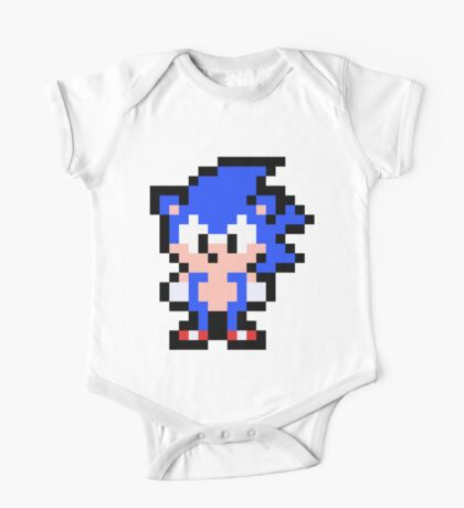 Pixel Sonic the Hedgehog One Piece - Short Sleeve